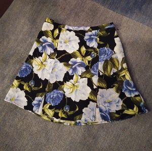 American Apparel floral mini skirt with slits